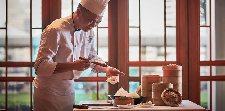 Chef Yau makes Hagao of River Café & Terrace at The Peninsula Bangkok