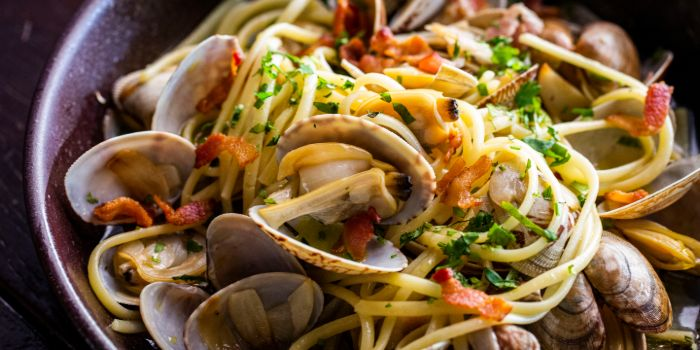 Clams Bacon Linguine from Mischief at Esplanade in Promenade, Singapore