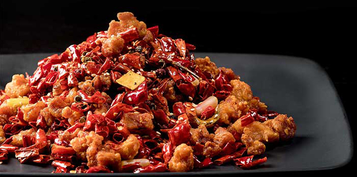 Chong Qing Diced Chicken with Dried Chilli from  Si Chuan Dou Hua (Beach Road) in Bugis, Singapore
