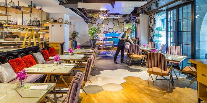 Interior of Xperience Restaurant in SO Sofitel Singapore in Raffles Place, Singapore
