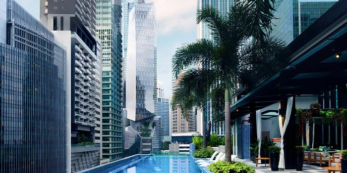 Outdoor  of 1927 at SO Sofitel Singapore in Raffles Place, Singapore