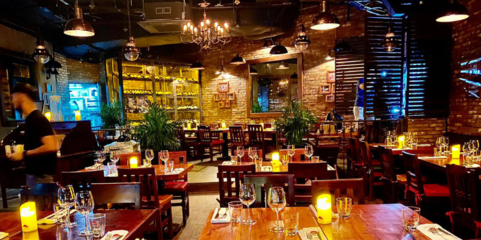 Interior, El Gaucho Bar & Grill (Wyndham Street), Central, Hong Kong