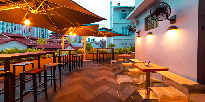 Outdoor Area of The Coconut Club in Telok Ayer, Singapore