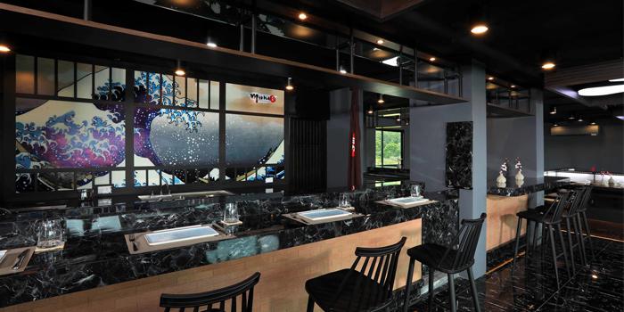 Ambiance of Mikha Japanese Restaurant in Rawai, Phuket, Thailand.