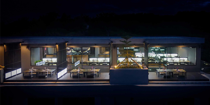 Atmosphere of Mikha Japanese Restaurant in Rawai, Phuket, Thailand.