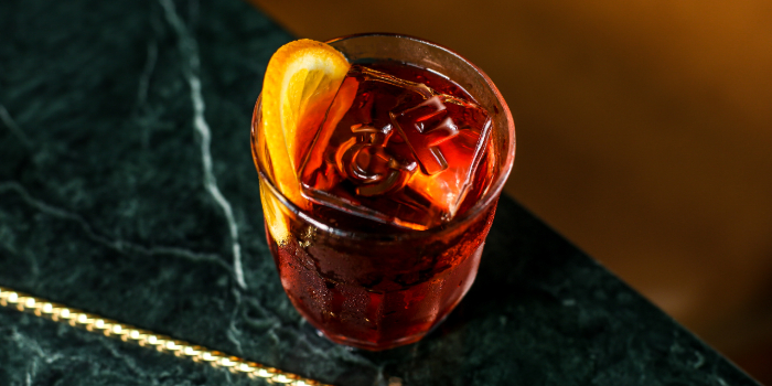 Negroni from Caffe Fernet at Customs House in Marina Bay, Singapore