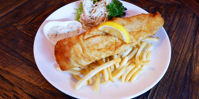 Fish and Chips from Blue Boar Pub & Restaurant at 21/3 Sukhumvit Soi 18, Khlong Toei, Khlong Toei, Bangkok