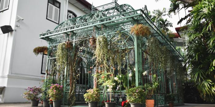 Exterior of Wildseed Cafe at The Alkaff Mansion in Telok Blangah, Singapore
