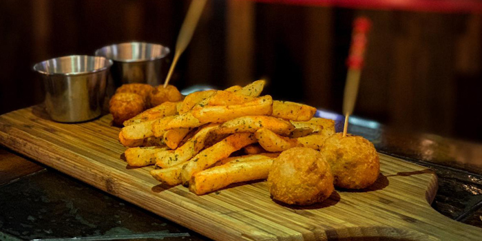Crispy Cheese Ball & Fries, The Old Monk Bar & Grill, Tsim Sha Tsui, Hong Kong