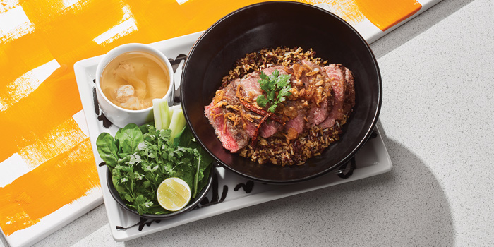 Grilled Wagyu Tenderloin on Turmeric Rice, Greyhound Café Galleria, Tsim Sha Tsui, Hong Kong