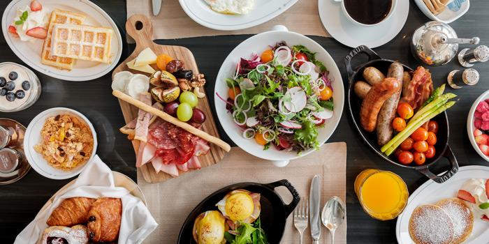 Breakfast from Front Room at Waldorf Astoria Bangkok Lower Lobby, 151 Ratchadamri Road Bangkok