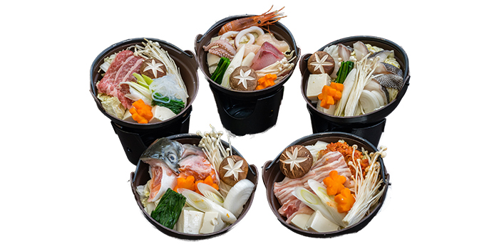 Nabe Sets from Jin Fine Dining in Telok Ayer, Singapore