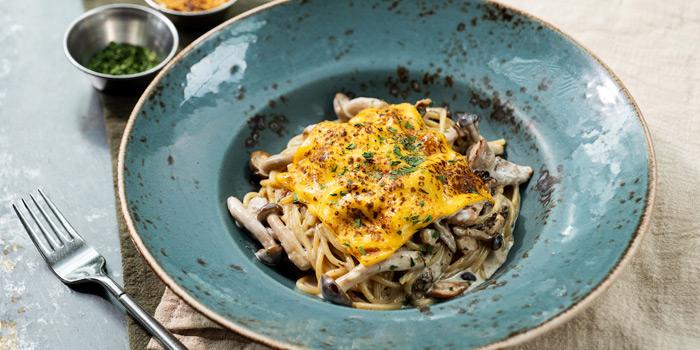 Porcini Mushroom and Cheese Spaghetti, Glasshouse (IFC), Central, Hong Kong, Glasshouse (IFC), Central, Hong Kong