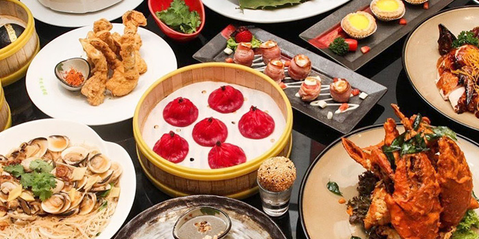 Food Spread from Jia He Chinese Restaurant at One Farrer Hotel Connexion in Little India, Singapore