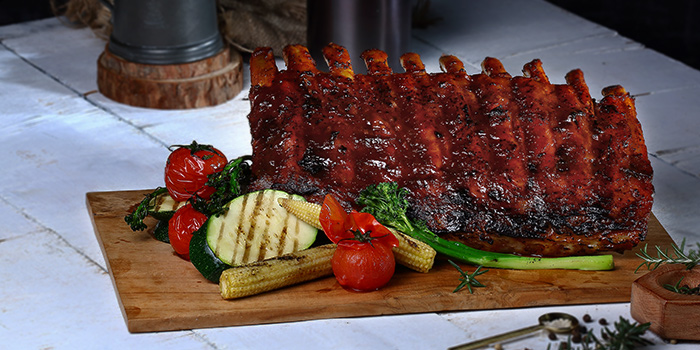 Charcoal-grilled Babyback Ribs from Duckland (Resorts World Sentosa) at Resorts World Sentosa in Sentosa, Singapore