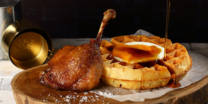 Duck Confit & Waffle from Duckland (Resorts World Sentosa) at Resorts World Sentosa in Sentosa, Singapore