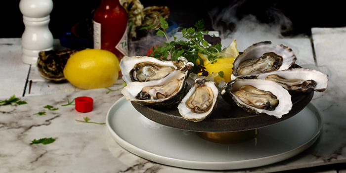 Fresh Juicy Oyster from Duckland (Resorts World Sentosa) at Resorts World Sentosa in Sentosa, Singapore