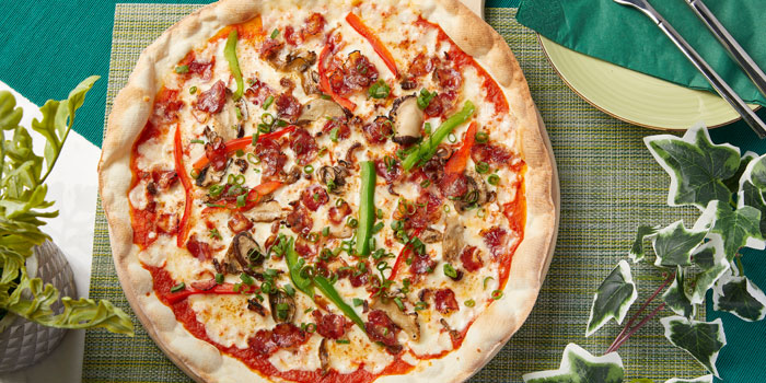 Spicy Salami Pizza, Glasshouse Greenery, Tsim Sha Tsui, Hong Kong