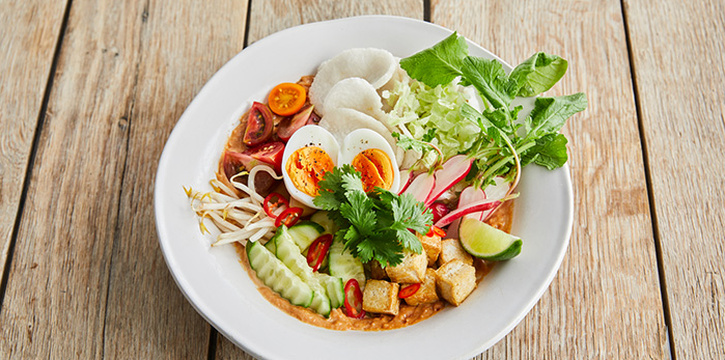 Food from Jamie Oliver Kitchen, Bali