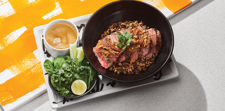 Grilled Wagyu Tenderloin on Turmeric Rice, Greyhound Café Galleria, Tsim Sha Tsui, Hong Kong