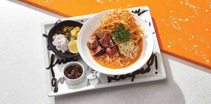 Grilled Wagyu Khao Soi, Greyhound Café Galleria, Tsim Sha Tsui, Hong Kong
