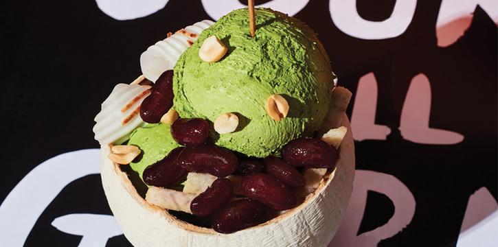Coconut Ice Cream, Greyhound Café Galleria, Tsim Sha Tsui, Hong Kong