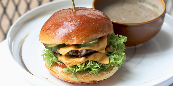 Double Cheeseburger from Bread Yard at Galaxis in Buona Vista, Singapore