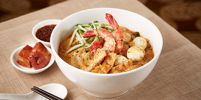 Laksa from The Courtyard at The Fullerton Hotel Singapore in Raffles Place, Singapore