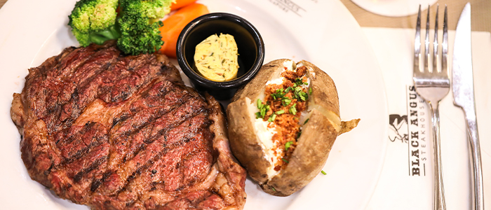Rib Eye Steak from Black Angus Steakhouse at Orchard Rendezvous Hotel in Orchard, Singapore