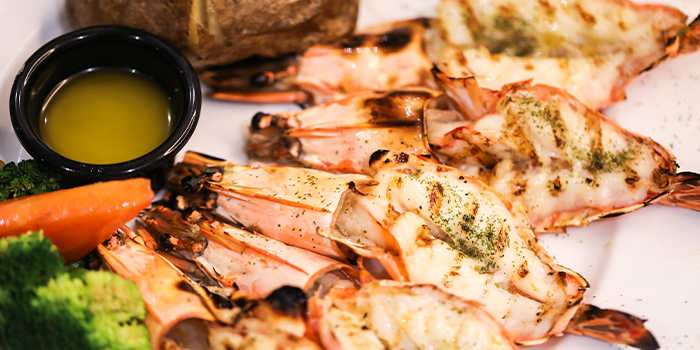 from Black Angus Steakhouse at Orchard Rendezvous Hotel in Orchard, SingaporeGrilled Jumbo Prawns