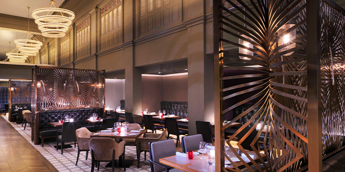 Interior of Ash & Elm in InterContinental Singapore in Bugis, Singapore