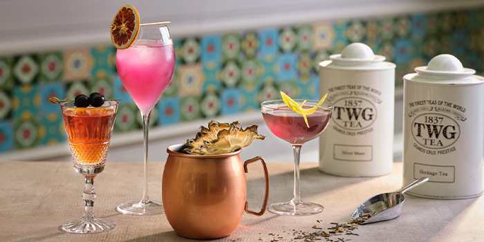 TWG tea infused cocktails from The Lobby Lounge in InterContinental Singapore in Bugis, Singapore