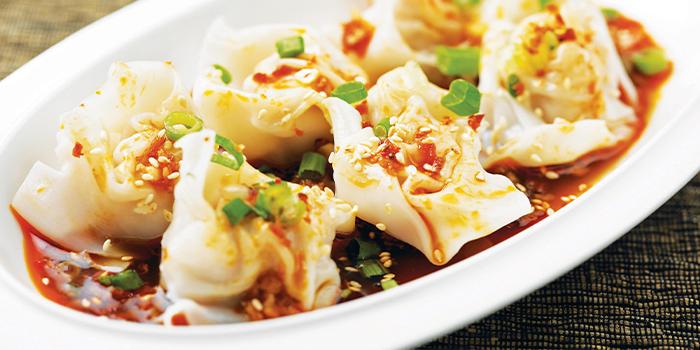 Pork Dumplings w Chilli Sauce from Honguo (Bugis Junction) at Bugis Junction in Bugis, Singapore