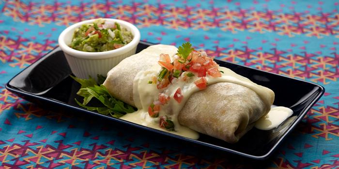 Burritos from Muchos in Clarke Quay, Singapore
