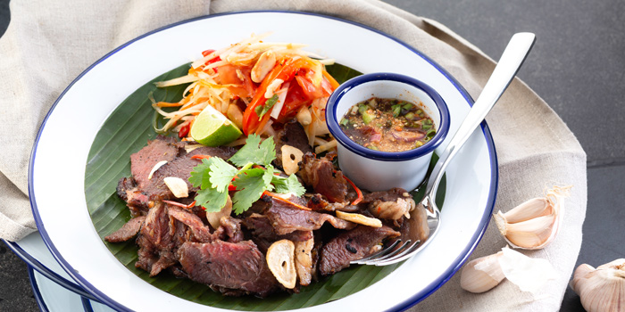 Food from The Deck Beach Club in Patong, Thialand.