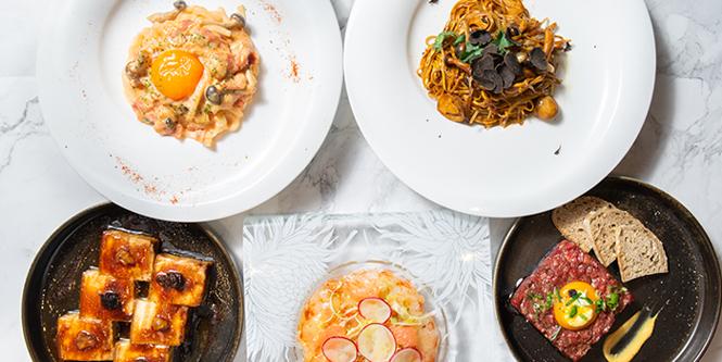 Western Dishes Top View, Zeng, Causeway Bay, Hong Kong