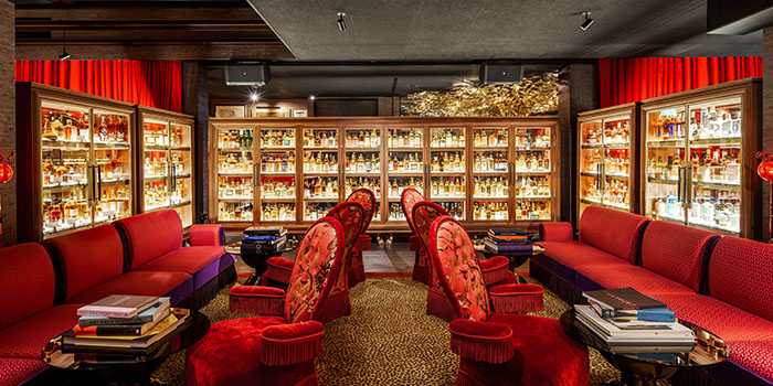 nterior of The Whiskey Library @ The Vagabond Club in Jalan Besar, Singapore
