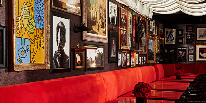 Wall of Art of The Whiskey Library @ The Vagabond Club in Jalan Besar, Singapore