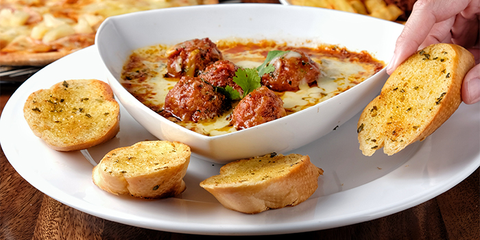 Cheezy Meatball with Garlic Toast from Bailamos Bistro Bar & Cafe in Jalan Besar, Singapore