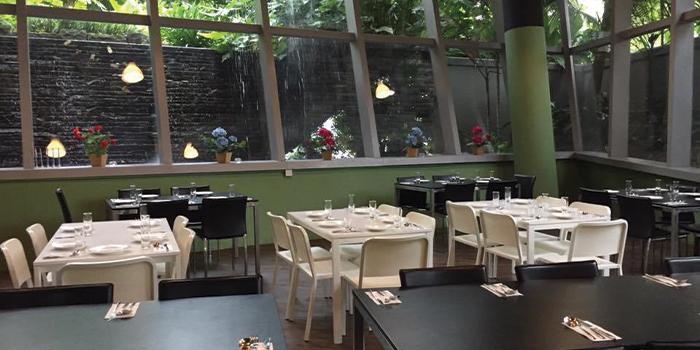 Interior of Arkadas Cafe at Sandcrawler Building in Buona Vista, Singapore