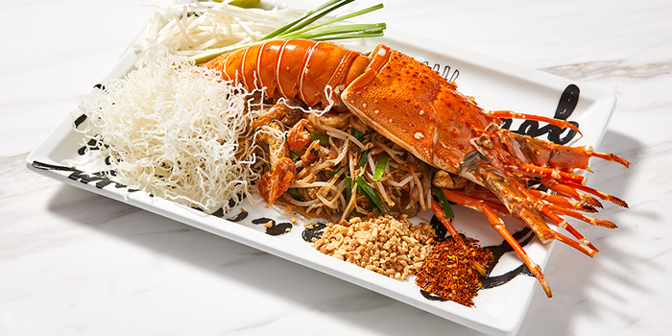 Lobster Phad Thai, Greyhound Cafe (Times Square), Causeway Bay, Hong Kong
