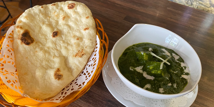 Indian Cottage Cheese with Spinach and Naan Bread, The Lot On Possession, Sheung Wan, Hong Kong