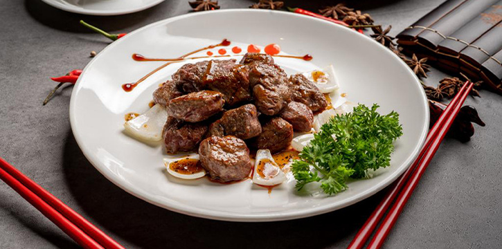 Black Pepper Beef Cubes from Asia Grand Restaurant at Odeon Towers in City Hall, Singapore