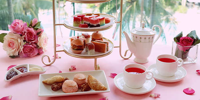 Pink Hope high Tea Promotion (7-31 Oct) from The Lobby Lounge at Shangri-La Hotel in Tanglin, Singapore
