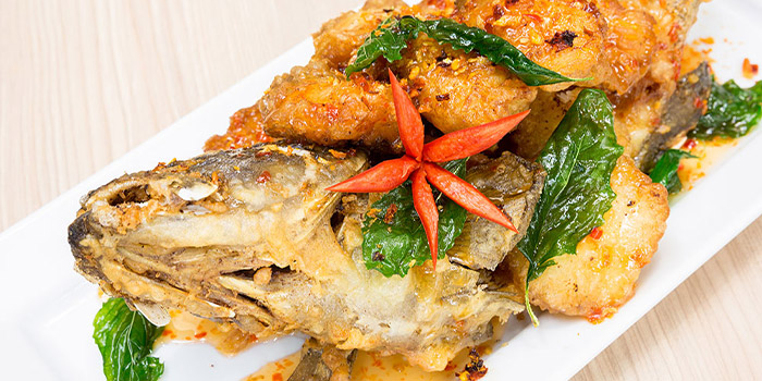Deep Fried Sweet and Sour Fish from Royal Thai in East Coast, Singapore