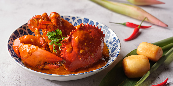 Chili Crab with Mantou from Ginger in PARKROYAL on Beach Road in Bugis, Singapore