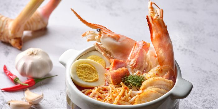 River Prawn Laksa from Ginger in PARKROYAL on Beach Road in Bugis, Singapore