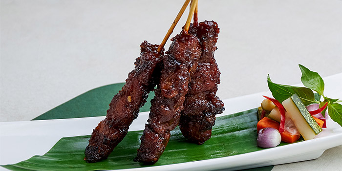 Char Grilled Iberico Pork Pluma Satay from Table At 7 at SIM Management House in Bukit Timah, Singapore