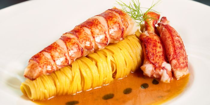 Pasta Lobster from Zafferano Italian Restaurant & Lounge in Collyer Quay, Singapore