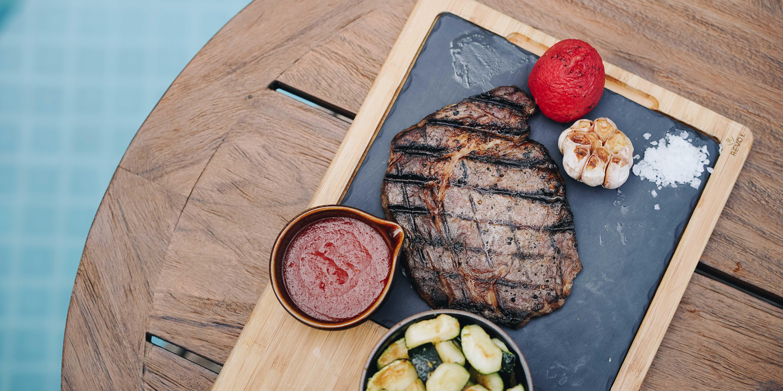 Steak at Summers at the Pool (Swissôtel Jakarta PIK Avenue)
